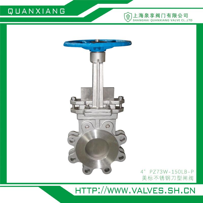 美标不锈钢刀型闸阀 4-PZ73W-150LB-P  上海泉享